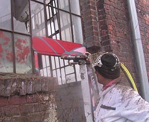 Odstranění graffiti - před
